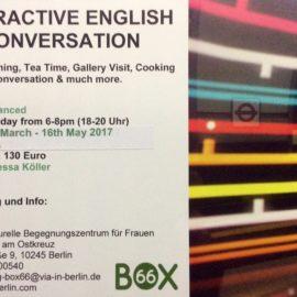 Interaktive English Konversationen ab 14.3.2017!