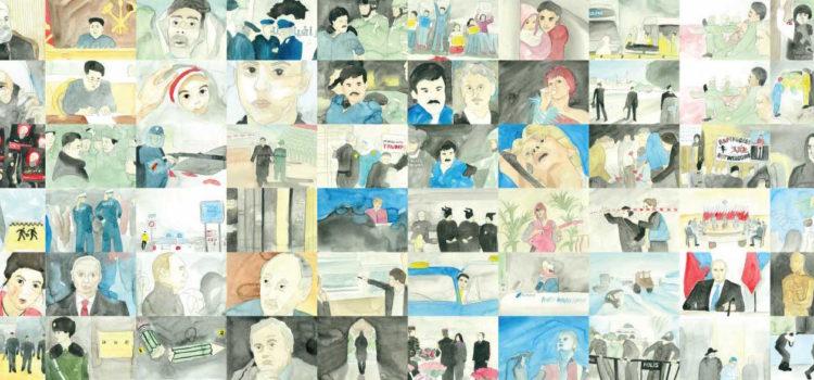 """Finissage der Ausstellung """"Sketchy News"""" 12.10.17 18:00 Uhr"""
