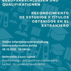 Anerkennung von Ausländischen Berufsabschlüssen und Qualifikationen