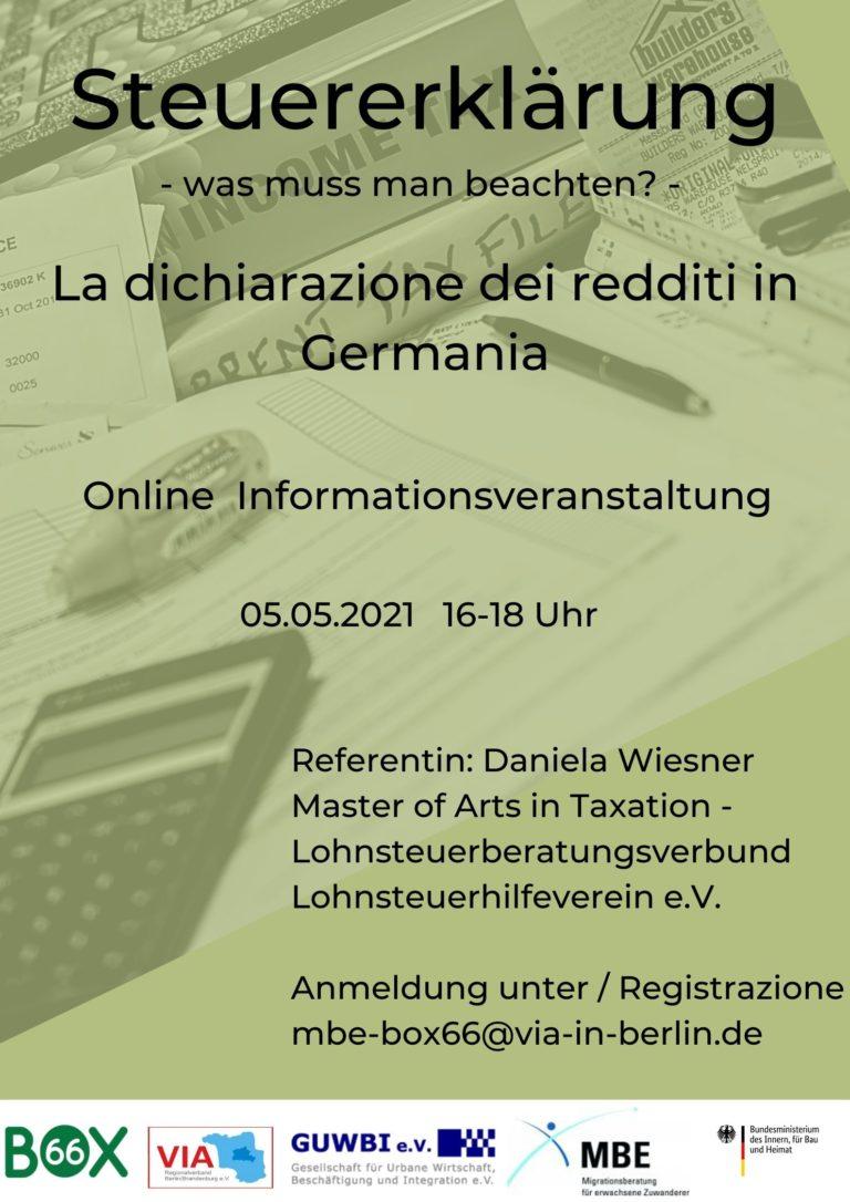 Steuererklärung- was muss man beachten? - BOX66